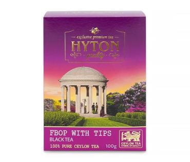 Чай черный байховый с добавлением типсов, Hyton,  100 гр., картонная коробка