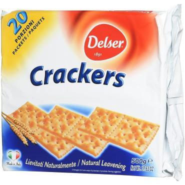 Крекеры без соли, Delser, 500 гр., флоу-пак