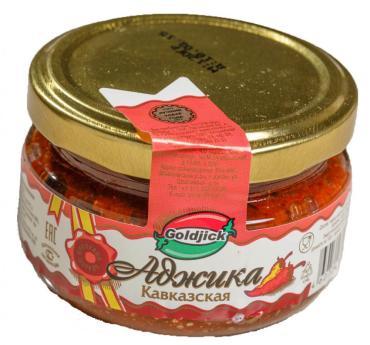 Аджика кавказская Goldjick, 120 гр., стекло