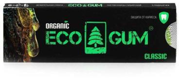Жевательная резинка Eco Gum classic органическая100 гр., картон