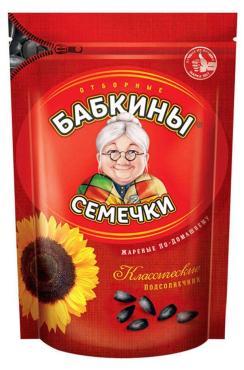Семечки жареные Бабкины Семечки, 300 гр., дой-пак