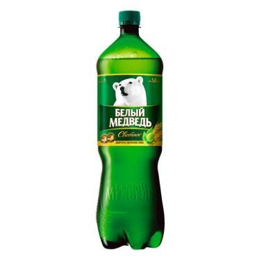 Пиво светлое Белый медведь, 1,32 л., пластиковая бутылка
