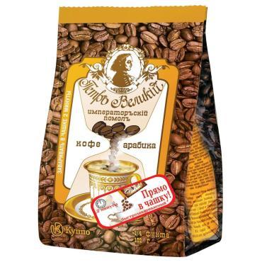 Кофе молотый Петръ Великiй Императорский, 102 гр., фольгированный пакет