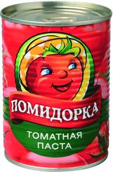 Томатная паста, Помидорка, 380 гр., жестяная банка