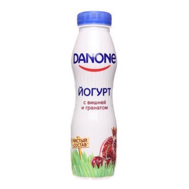Йогурт питьевой Данон 270г ф-9 вишня-гранат