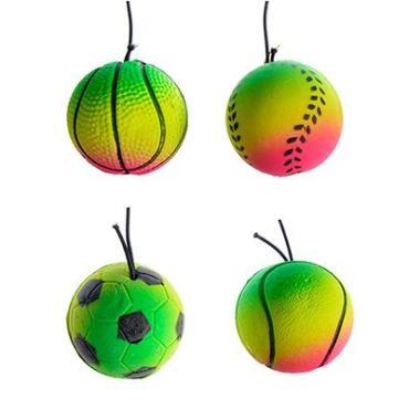 Мяч с резиночкой, d=3,8 см., ПВХ, пластиковый пакет