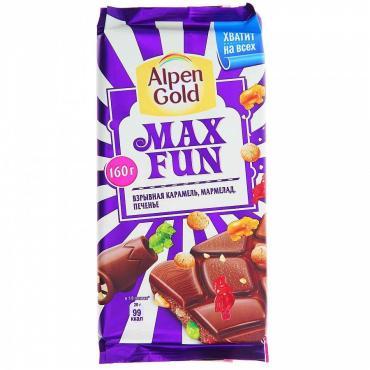 Шоколад Alpen Gold Max Fan Взрывная карамель мармелад драже