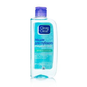 Лосьон для глубокого очищения лица Clean&Clear Для чувствительной кожи