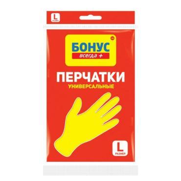 Перчатки Бонус Универсальные резиновые L