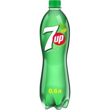 Газированный напиток 7-UP вкус лимона и лайма безалкогольный 0,6 л