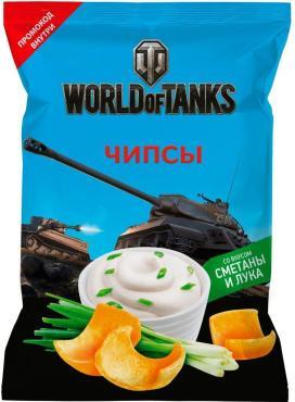 Чипсы World of Tanks со вкусом сметана лук