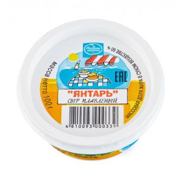 Сыр Малочны гасцiнец Янтарь плавленый 60%