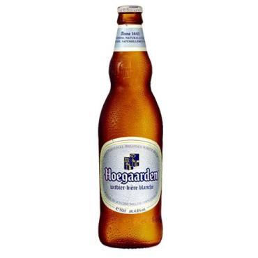 Пивной напиток Hoegaarden белый пастеризованный нефильтрованный в стекле, 750мл