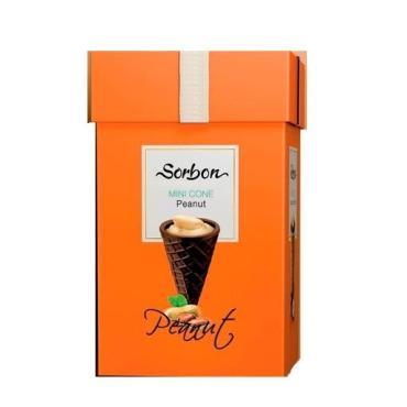 Конфеты Sorbon мини-рожок с какао с начинкой арахис и воздушные зерна 200г