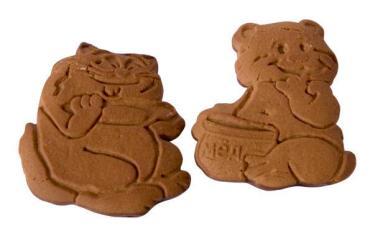 Печенье Динсладия Сахарное Сказка с какао порошком