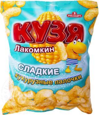 Кукурузные палочки Сладкие, Кузя Лакомкин, 38 гр, флоу-пак
