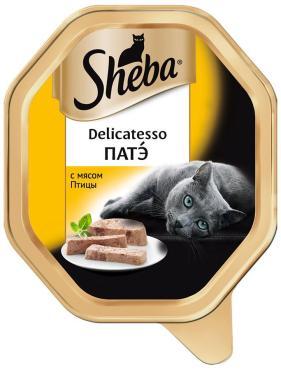 Корм Sheba Delicatesso Патэ с мясом Птицы 85г