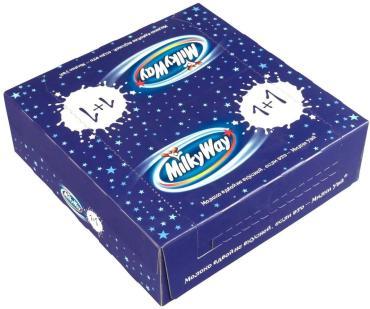 Шоколадный батончик Milky way 1+1 18 шт