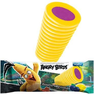 Фруктовый лед Angry Birds Твистер Черничный с лимонным щербетом