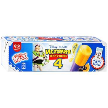 Мороженое Max История игрушек Фруктовый лед со вкусом апельсина и черной смородины Тату внутри
