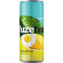 Напиток безалкогольный холодный чай Fuzetea зеленый манго-ромашка 0,33 л.