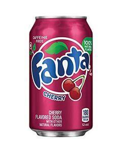 Напиток со вкусом вишни сильногазированный Fanta, 355 мл., ж/б