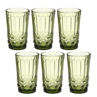 Набор стаканов Magistro Ла-Манш 350 мл. зеленый 6 шт.