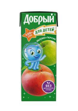 Сок Добрый Яблоко-Персик для детей