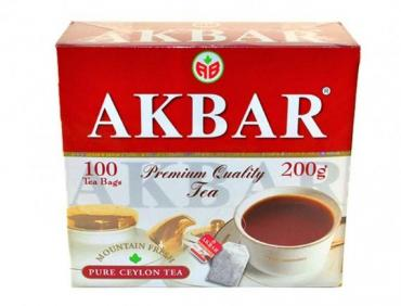 Чай Akbar Красно-белая серия черный байховый цейлонский 75 пак