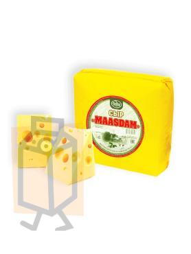 Сыр Ле Шале  полутвердый Маасдам 45% , 500 гр., в/у
