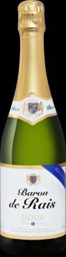 Вино белое полусладкое игристое Sorevi Baron de Rais doux, 750 мл., стекло