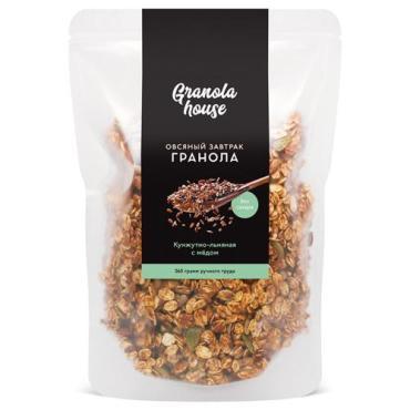 Гранола Granola House кунжутно-льняная с семечками и медом