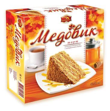 Торт Медовик, Черемушки, 630 гр., картон, 6 шт.