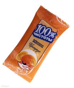 Салфетки влажные 100% чистоты Цитрус 10шт.
