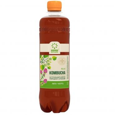 Напиток Комбуча RELAX с цветами липы и чабрецом, Absolute Nature, 555 мл., ПЭТ
