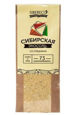 Экосоль сибирская со специями Sibereco , 500 гр., пластиковый пакет