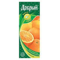 Сок апельсин и лимон Добрый 2 л., Тетра-пак