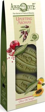 Набор мыла оливкового, Бодрящие ароматы, гранат+манго и папайя, 2шт, Aphrodite, 175 гр., Картонная коробка