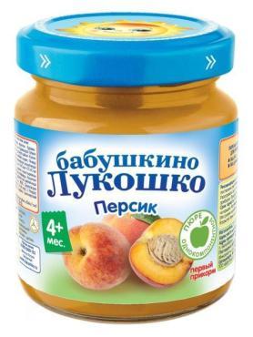 Пюре Бабушкино Лукошко из персика для детей с 4 месяцев