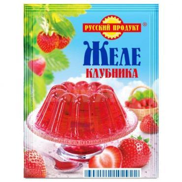 Желе быстрого приготовления клубника, Русский Продукт, 50 гр., сашет