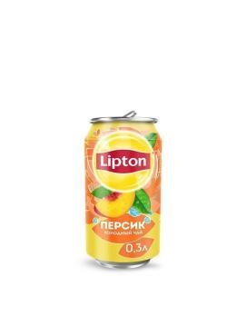 Напиток безалкогольный холодный чай Lipton Ice Tea со вкусом персика, ж/б 0,33 л. (12 шт. в упаковке)