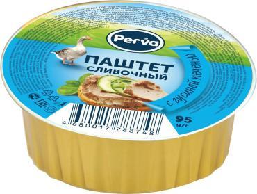Паштет Perva сливочный с гусиной печенью, 95 гр., ламистер
