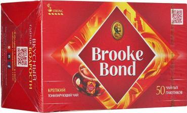 Чай черный Brooke Bond Насыщенный 50 пакетов