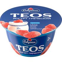 """Йогурт """"Греческий"""" 2.0% 140г ф-12 п/ст с Клубникой"""