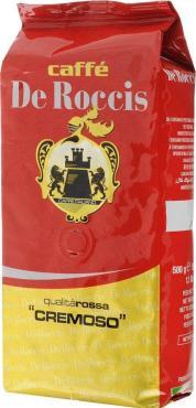 Кофе De Roccis Rossa Cremoso в зернах 500 г.