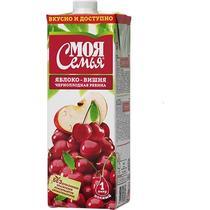 Нектар Моя Семья яблоко-вишня-черноплодная рябина 1 л.