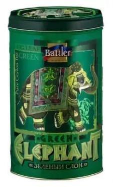 Чай Battler Зеленый Слон GP1 зеленый цейлон, 100 гр., ж/б