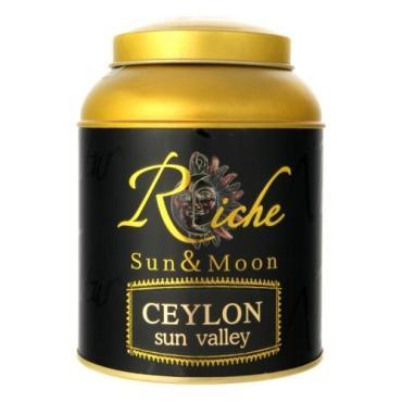 Чай Riche Natur Sun & Moon Ceylon sun valley черный крупнолистовой, 100 гр., ж/б