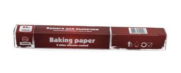 Бумага для выпечки Textop Силиконизированная с 2 сторон 0,38х50м. С отрезным ножом коричневая