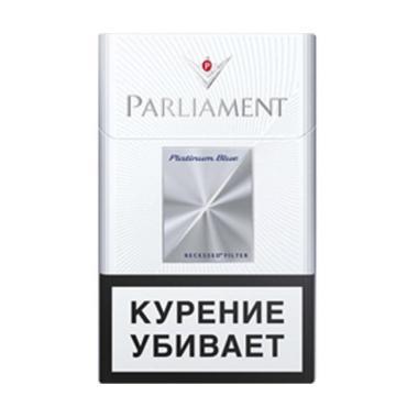 Сигареты с фильтром Parliament Platinum Blue, 30 гр., картонная пачка